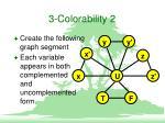 3 colorability 2
