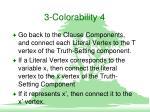 3 colorability 4