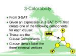 3 colorability