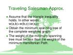traveling salesman approx