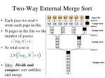 two way external merge sort