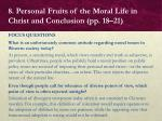 8 personal fruits of the moral life in christ and conclusion pp 18 214