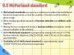 0 5 mcfarland standard