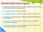 antimicrobial control agents