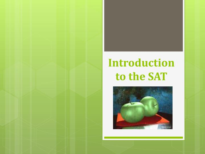 introduction to the sat n.