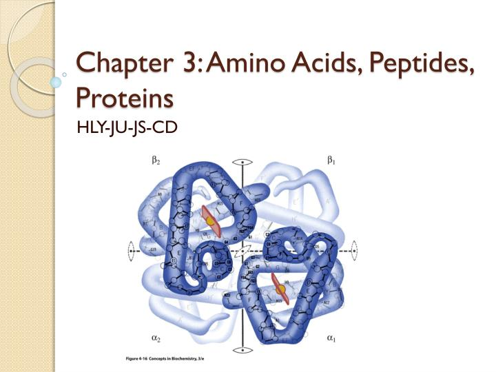 chapter 3 amino acids peptides proteins n.