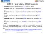 2008 8 hour ozone classifications