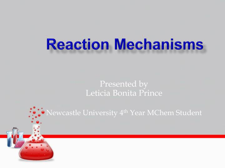 reaction mechanisms n.