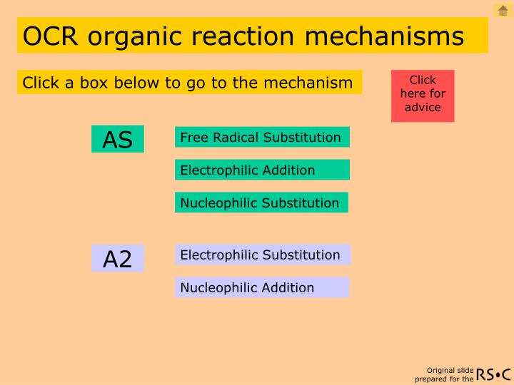 ocr organic reaction mechanisms n.