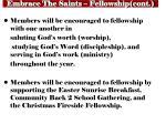 embrace the saints fellowship cont