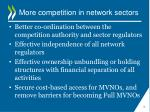 more competition in network sectors