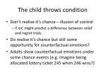 the child throws condition