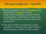strong analgesics opioids