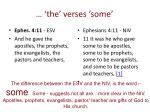 the verses some