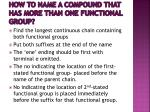 how to name a compound that has more than one functional group