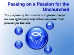 passing on a passion for the unchurched1