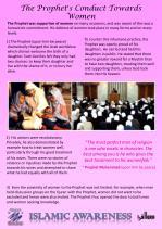 the prophet s conduct towards women