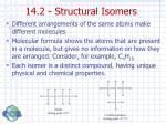14 2 structural isomers