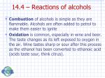 14 4 reactions of alcohols