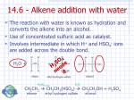 14 6 alkene addition with water