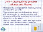 14 6 distinguishing between alkanes and alkenes
