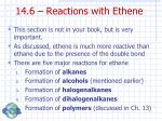 14 6 reactions with ethene