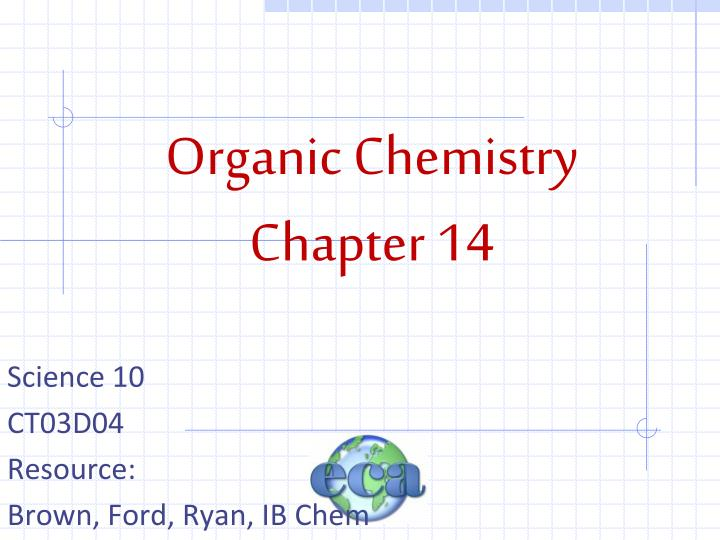 organic chemistry chapter 14 n.