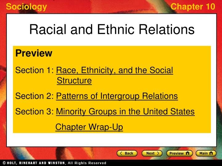 racial and ethnic relations n.