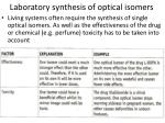 laboratory synthesis of optical isomers