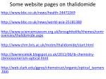 some website pages on thalidomide