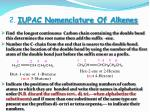 2 iupac nomenclature of alkenes