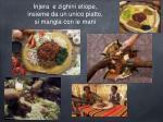 injera e zighin etiope insieme da un unico piatto si mangia con le mani