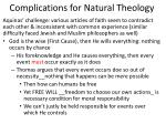complications for natural theology