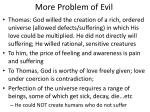 more problem of evil