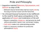 pride and philosophy