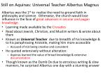 still on aquinas universal teacher albertus magnus