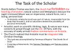 the task of the scholar
