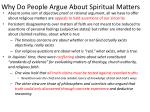 why do people argue about spiritual matters