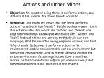 actions and other minds