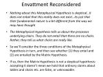 envattment reconsidered