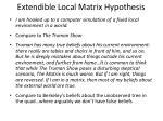 extendible local matrix hypothesis