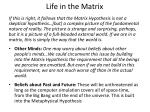 life in the matrix