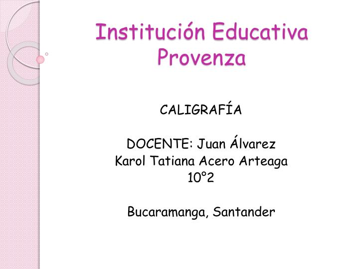 instituci n educativa provenza n.