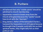 b puritans