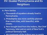 xv quaker pennsylvania and its neighbors