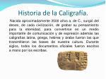 historia de la caligraf a