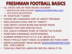 freshman football basics