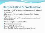 reconciliation proclamation