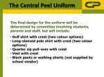 the central peel uniform