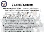 3 critical elements